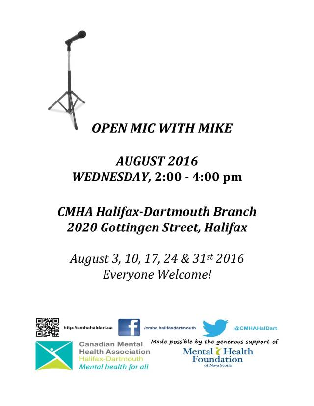 Open Mic with Mike August 2016