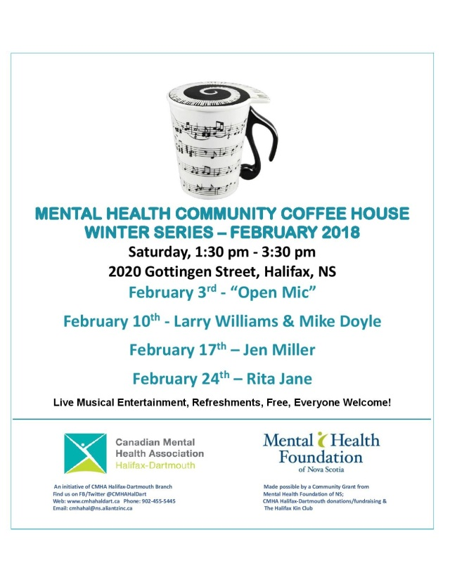 MENTAL HEALTH COMMUNITY COFFEE HOUSE flyer February 2018-page-001