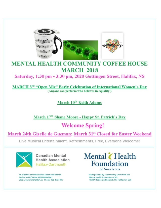 MENTAL HEALTH COMMUNITY COFFEE HOUSE flyer March 2018-page-001